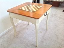 Traditional Game Table-Beige + Cherry Finsh Top-chess and backgammon in Naperville, Illinois