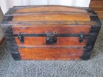 "Antique Wood Trunk / Treasure Chest ~ 19"" tall x 30"" wide x 17"" deep in Naperville, Illinois"