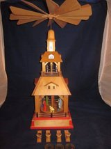 "Erzgebirge Nativity 22"" Tiered Pyramid Carousel Christmas CandleHolder in Chicago, Illinois"
