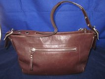 COACH VINTAGE Purse #F06D-1417 Dark Brown Silver Strap ~ EXCELLENT in St. Charles, Illinois