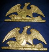 VIRGINIA METALCRAFTERS BRASS (2) Trivets 10-19 American Bald Eagle in Naperville, Illinois