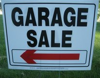 (6) Deluxe GARAGE SALE Signs Rent or Buy ~ High Quality in Batavia, Illinois