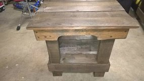 Reclaimed wood end table/patio table in San Clemente, California