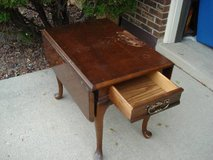 drop down side end table with drawer in Naperville, Illinois