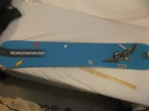 rossignol snowboard without bindings euc 138 cm blue owl bird t-138 138 cm 7880 in Huntington Beach, California