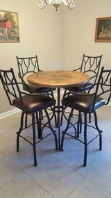 Hammered Copper Bar Dining Table - Seats 4 - One of a Kind in Little Rock, Arkansas