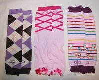 lot of 3 bl toddler girls leg warmers bows butterflies rainbow baby checker pink in Tacoma, Washington
