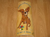 Patio, Porch, Kitchen Wall Art Decor Hand Painted Chihuahua Clay Roof Tile in Vista, California