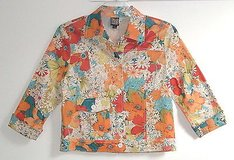 Bets by CanvasBacks Light Weight Floral Jacket Womens Medium - Unlined in Morris, Illinois