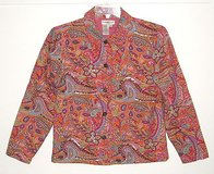 Coldwater Creek Lined Floral Paisley Beaded Sequin Jacket sz PM Petite Medium in Morris, Illinois