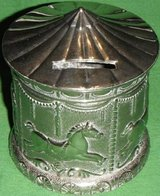 Silver Plated Carousel Bank SilverPlate Baby Child in Westmont, Illinois