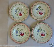 set of 4 -8'' art hand painted surface flowers plates in Plainfield, Illinois