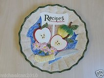 8.5'' art hand painted surface recipes plates in Lockport, Illinois