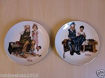 2pcs 6.5'' art hand painted the cobbler/the lighthouse keeper's daughter plates in Lockport, Illinois