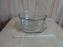 11.5''  art glass bowl and plate in Lockport, Illinois