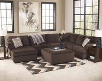 *** BRAND NEW *** ASHLEY 3 PIECE SECTIONAL BROWN GRAY GREY *** in Fort Campbell, Kentucky
