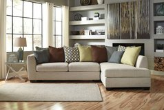 *** BRAND NEW *** ASHLEY WHITE CREAM CASHERAL LINEN SECTIONAL *** in Fort Campbell, Kentucky