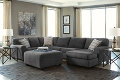 *** BRAND NEW *** 3 PIECE ASHLEY CHARCOAL GREY GRAY SECTIONAL *** in Fort Campbell, Kentucky