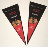 Lot of 2 2014 Chicago Blackhawks NHL Pennant Set McDonalds Exclusive Promos in Morris, Illinois