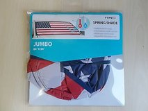 Brand New winplus american flag spring shade jumbo keeps reflects heat & uv lights 64x34 in Joliet, Illinois