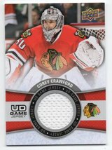 CHICAGO BLACKHAWKS COREY CRAWFORD GAME USED JERSEY CARD in Chicago, Illinois