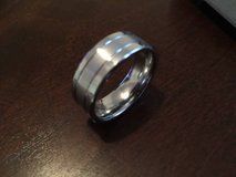 White Gold Style Tungsten Ring - sz 11 *NEW* in Camp Lejeune, North Carolina