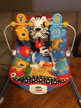 Fisher Price Calming Vibrations Bouncy Seat in Oswego, Illinois