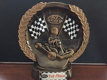 k1 speed 1st place car race trophy /great used condition in Morris, Illinois