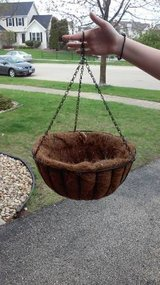 METAL HANGING BASKET WITH COCO LINER in Aurora, Illinois