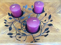 Wrought iron three candle centerpiece in Plainfield, Illinois
