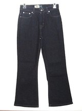 Girls Size 12 Gap Ajustable Waist Flare Jeans  Stretch Dark Blue 26 x 27 in Morris, Illinois