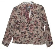 Havana Jacks Cafe Floral Tapestry Button Down Jacket Womens sz 16 in Morris, Illinois