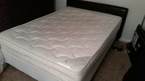 Great condition! Full size mattress set with headboard and frame! in Naperville, Illinois