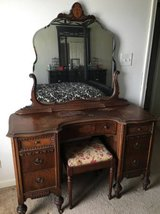 Antique Vanity with Original Mirror and 7 drawers in Pleasant View, Tennessee