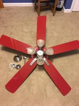 Harbor Breeze red ceiling fan with lights in Belleville, Illinois