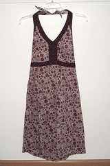 Gap Purple Plum Halter Top Floral Sundress Womens Size 8 in Morris, Illinois