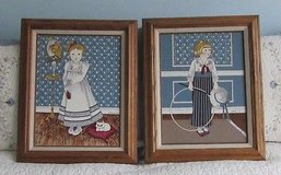 """Pair Of Framed Oil Paintings Of Victorian Children***Ex Cond***16.5"""" by 20.5"""" in Algonquin, Illinois"""
