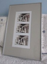 """Framed Multiple Series Photograph**Chair & Lamp & Quilt**Double Mat 16"""" by 24"""" with Silver Metal... in Algonquin, Illinois"""