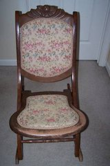 Antique Fold up rocking chair in Naperville, Illinois