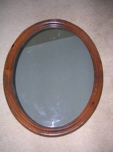 "Large Vintage Uttermost Virginia Wood Oval Wall Mirror 31.5"" x 25.5"" in Naperville, Illinois"