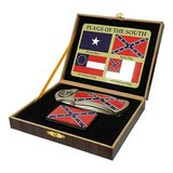 CONFEDERATE FLAGS OF THE SOUTH BOXED WITH LIGHTER AND KNIFE in Lake of the Ozarks, Missouri