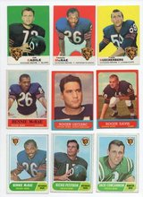 CHICAGO BEARS 1963 - 1969 FOOTBALL CARDS in Oswego, Illinois