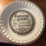 Royal China Jeannette Cheese Cake Recipe Pie Plate Vintage Jeannette Baking Dish in Morris, Illinois