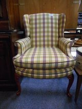 Exceptional Plaid Wingback Chair in St. Charles, Illinois