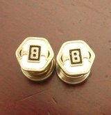 antique gold & mother of pearl custom made cuff links initial B; in Yucca Valley, California