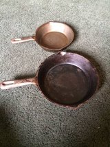 "Cast Iron pans- 8"" and 6 1/2"" in Warner Robins, Georgia"