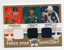 CHICAGO BLACKHAWKS JONATHAN TOEWS GAME USED JERSEY CARD in Chicago, Illinois