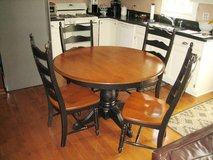 CANADEL Solid Wood Table & 4 Chairs - QUALITY! in Naperville, Illinois