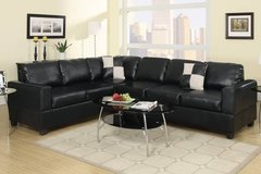 New Black Leatherette Sectional Sofa DELIVERY4FREE in Miramar, California