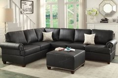 New Espresso Bonded Leather Sectional  Sofa DELIVERY4FREE in Miramar, California